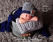 Baby Boy Knit Hat with Button-Knit Newborn Hat with Button-Newborn Button Beanie-Baby Boy Photo Prop-Knit Gray Newborn Beanie-Gray Baby Hat