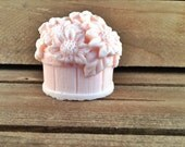 Flower Bucket 3D Bar Soap - Custom: You Pick Color And Scent