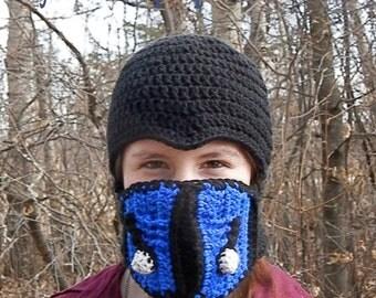 Sub Zero Balaclava, Crochet mortal combat video game toque