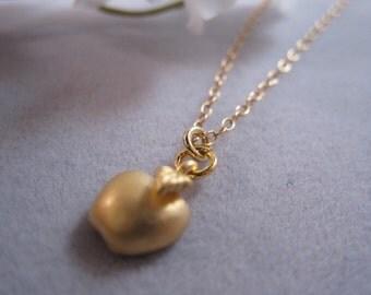 Apple charm, Half apple necklace, Teacher gift, Gold apple, Silver apple necklace, For mom, teacher appreciation