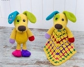 Combo Pack - Scrappy the Happy Puppy Lovey and Amigurumi Set for 7.99 Dollars - PDF Crochet Pattern - Instant Download - Special Offer Pack