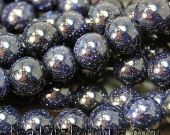 Blue Goldstone, 6mm --14.5 inch Strand