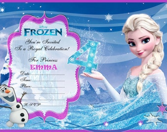 Instant Download Frozen Postcard Birthday invitation