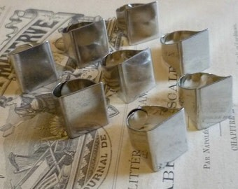 Jewelry Supplies 8 Silver Plated Wide Adjustable Ring Bases