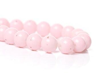 20 Light Pink Round Glass Beads 8mm