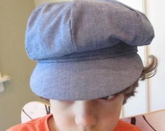 Vintage Chambray Greek Fishermans Hat