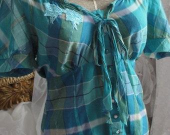 Gypsy boho mori girl french chic blouse