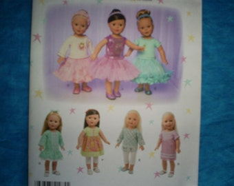 Simplicity 1485 for 18 inch doll clothes.