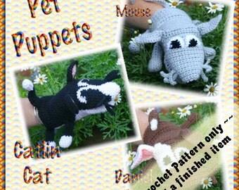 PDF Crochet Pattern Pet Puppets