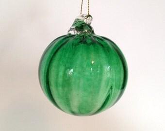 Blown Glass Ornament - Green
