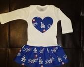 Los Angeles Dodgers Onesie Dress