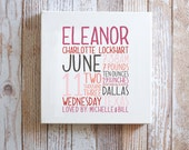 REMEMBER the day™ Canvas - Custom Memory Announcement - Birth Story - Keepsake - Custom - Gallery Wrapped Canvas - multiple typeface