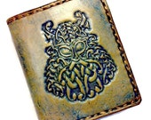 Celtic Irish Gift - Men's Leather Wallet - Viking Warrior - Celtic Knotwork - husband gift beard - Dad Gift. Holds 8 cards,1 bill slot