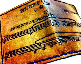 Sheet Music Gift - Music Lover Gift - Notes - Song Gift - Music Wallet - Customize Music - Personalize Music Gift, holds 8 cards,1 bill slot