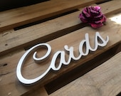 Card box sign CARDS. DIY Unpainted, painted or Glitter ( Bling Sign). Freestanding sign for wedding card box.