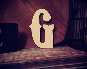Hand-painted Wooden Letter G -  Wall Letters - Circus Font - Various sizes, finishes and colours