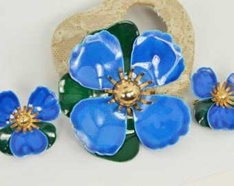 Vintage Brooch and Earrings