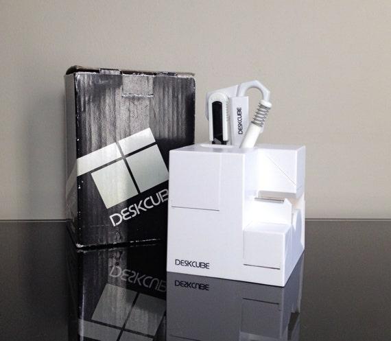 Forte White Desk Cube Organizer
