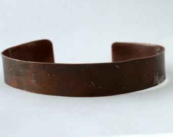 Brown Flame Colored Copper Cuff
