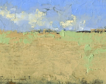 Spring, Luna County, New Mexico — Oil Painting, Landscape Oil Painting, Original Landscape Painting, Original Painting, Abstract Oil, 5 x 7