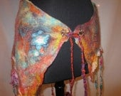 Nuno Wet Felted Pixie Gypsy Burning Man Tribal Wrap Skirt