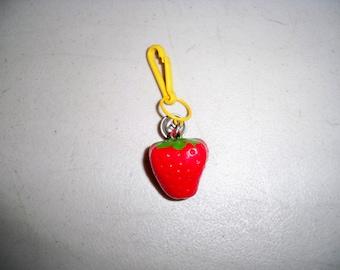 Vintage 1980's Children's Plastic Strawberry Charm