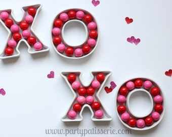 Ceramic Letter Dishes - Valentine's Day, Wedding, Birthday