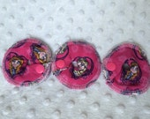 Premade Gtube rings - Ready to Ship 3 Pack - Girly Pink Frozen - Absorbent Flannel Tubie Accessories