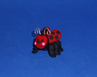 Polymer Clay Larger Red Ladybug