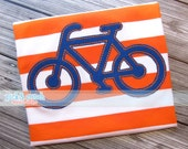 Bike Bicycle Silhouette Appliqué Design Machine Embroidery INSTANT DOWNLOAD