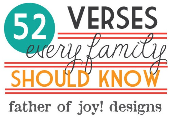 52 Verses Every Family Should Know