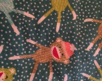 Sock Monkey Receiving Blanket