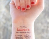 5 Bachelorette Tattoos - Bachelorette Party Temporary Tattoos - Diamond Bachelorette Tattoos - If I'm Lost, Please Buy Me A Drink