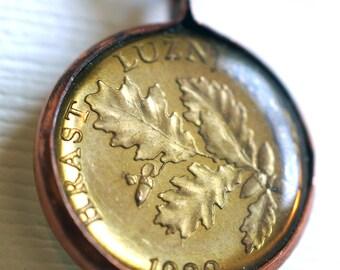 Oak Leaf Coin Pendant