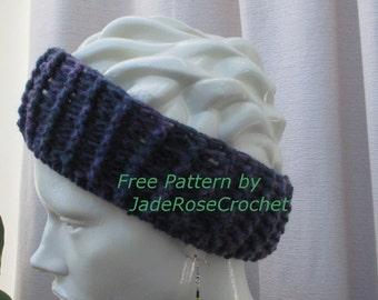 Free Crochet Pattern Ribbed Headband Earwarmer  PDF007