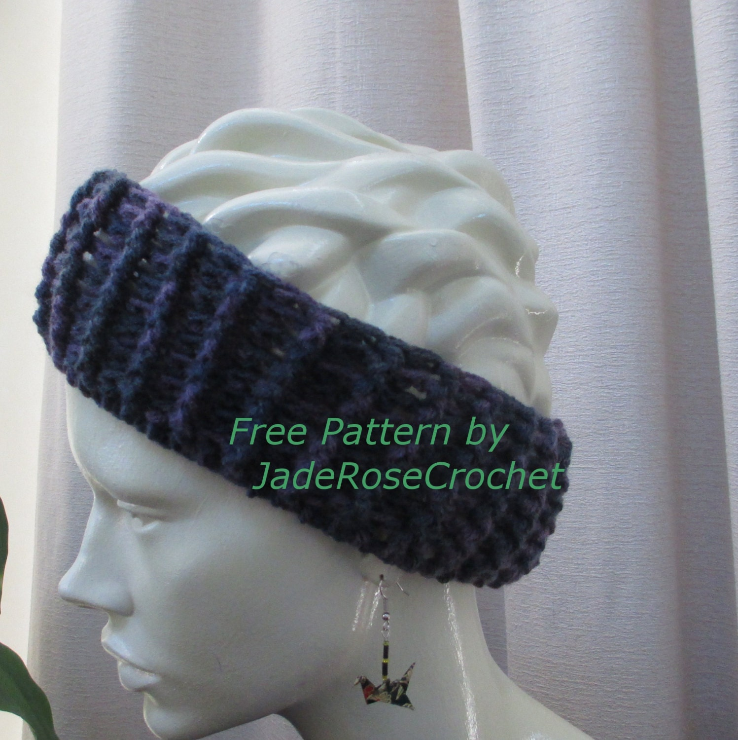 Free Crochet Ribbed Headband Patterns : Free Crochet Pattern Ribbed Headband Earwarmer PDF007