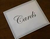 Wedding Cards Sign / Signage / DIY Wedding / Cards / Wedding Decorations / Cards Sign