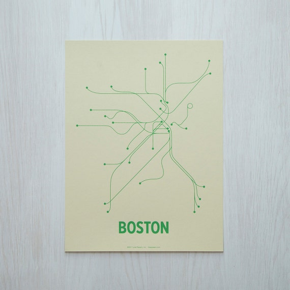 Boston Sm Screen Print - Cement/Green