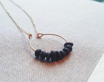 Small Delicate Semi-Circle Beaded Necklace