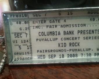 Kid Rock, 2008 - Concert ticket stub necklace or keychain
