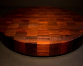 Cambia End Grain Countertop Dark Round Countertop Butcher Block Countertop Cutting Board **FREE SHIPPING to lower 48**