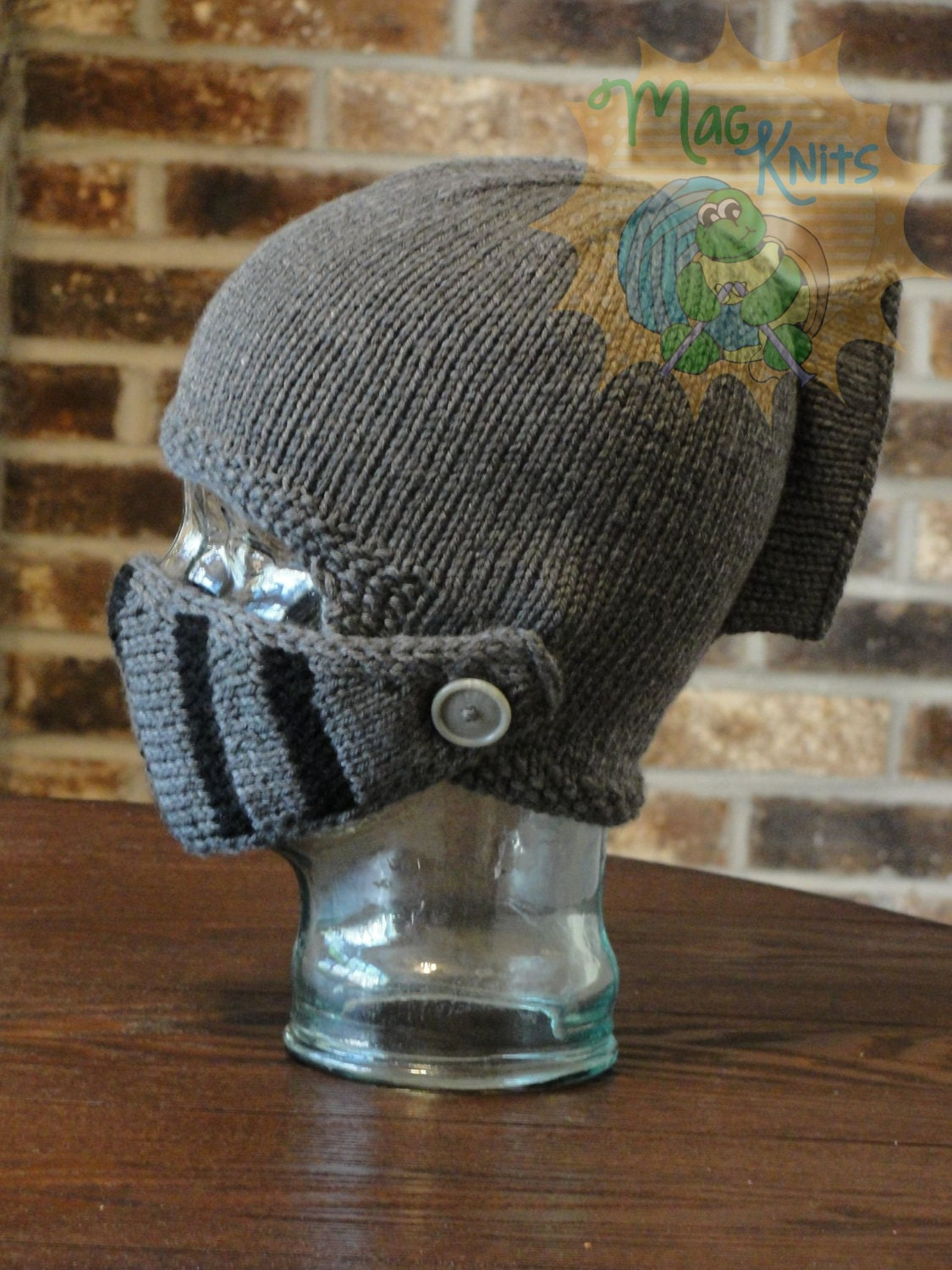 INSTANT Download PDF KNIT Sir Knight Helmet Pattern
