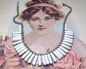 Free ship white rhinestone choker necklace