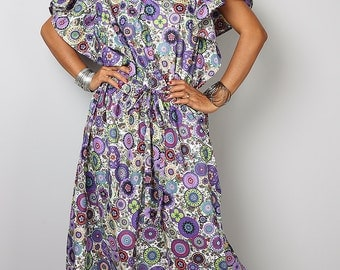 Cotton Maxi Dress / Boho Summer Dress : Sweet Sensation Collection