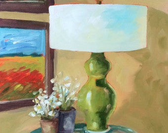 Still Life Painting • Lamp #2 • Home Decor •  Original Art • Oil Painting • Daily Painter • Daily Painting
