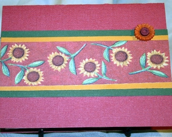 Red and Gold Sunflower Card for Any Occasion  20140193