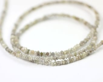 Diamond Tumbled Beads 10 Conflict Free White Silver Grey Brown Natural Chip Beads Precious Gemstone April Birthstone