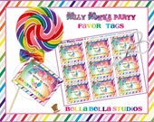 WILLY WONKA Favor TAGS  - Instant Download ~ diy Printable Party Decorations ~ Bella Bella Studios