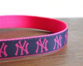 NY Yankee Dog Collar for the Girly Girl