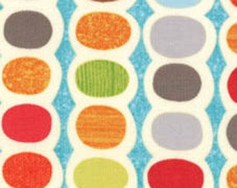 SALE - Mod Century - Turquoise Dots Pod Stripes Multi by Jenn Ski from Moda